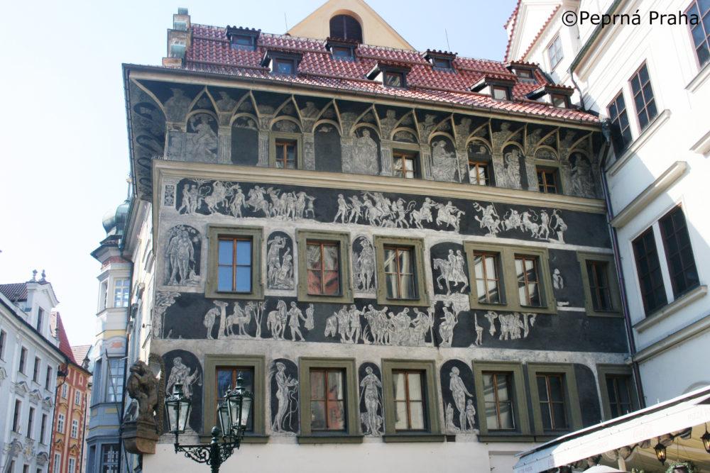 Dům U Minuty, Perlička prasátka Pepříka, Franz Kafka, Staroměstské náměstí