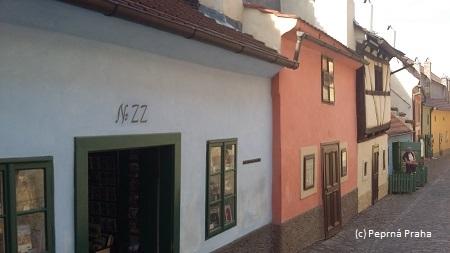 Zlatá ulička, Pražský hrad, domek č. 22, Franz Kafka