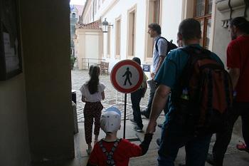 Albrecht z Valdštejna, nádvoří, Valdštejský palác, Peprná procházka, procházky po Praze pro děti, volný čas s dětmi v Praze