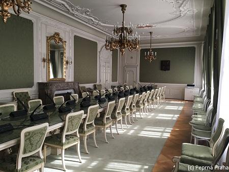 Zelený salonek v Kolovratském paláci